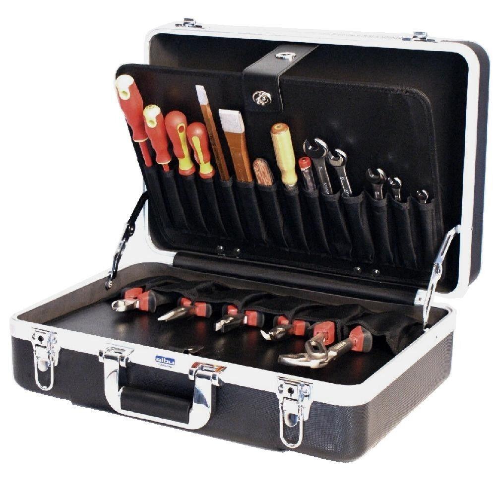 ABS- Werkzeugkoffer Werkzeugkoffer Werkzeugkoffer Hartschalenkoffer Werkzeugkiste Tool box case, leer, 61010 4fb001