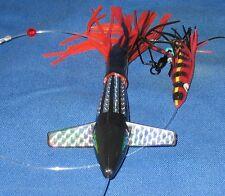TURBO TEASER BIRD BLACK Ancient Mariner Tackle Custom Trolling Fishing Lure