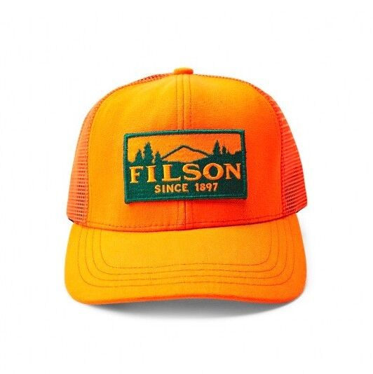Buy Filson Logger Mesh Cap Blaze Orange One Size online  37f27a4ad08