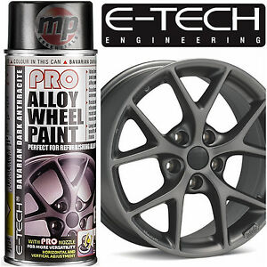 E-Tech-PRO-Alloy-Wheel-Refurbish-amp-Customise-Spray-Paint-Dark-Anthracite-Grey