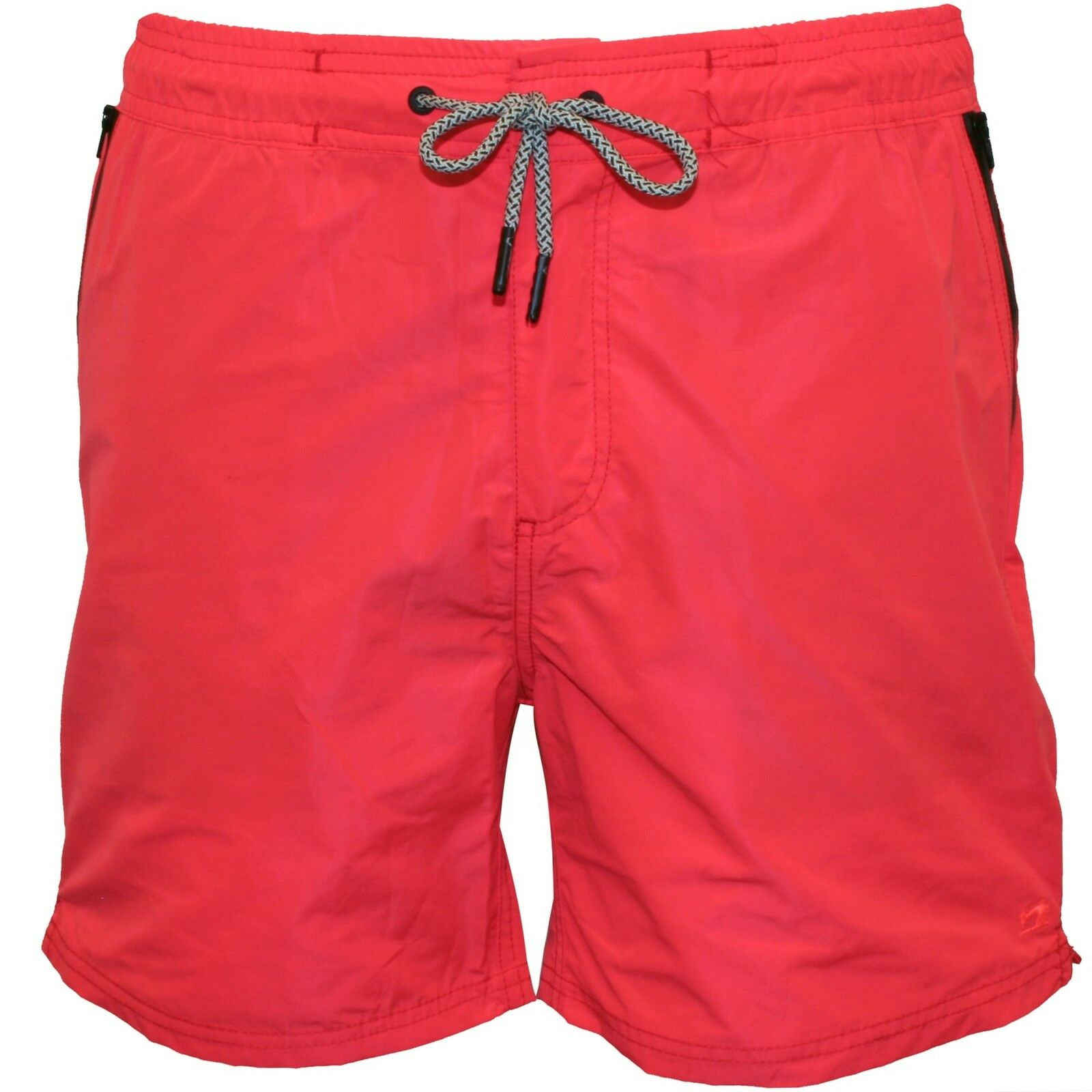 Scotch & Soda Classic Two-Tone Men's Swim Shorts, Coral with navy