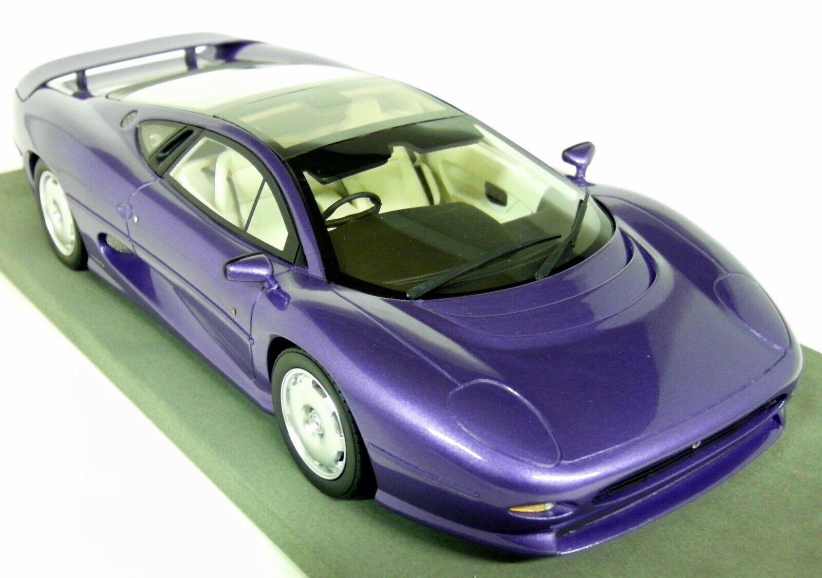 Top Marques 1 18 Scale - Jaguar XJ 220 Metallic Purple High End Resin Model Car