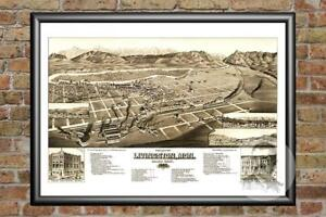 Old-Map-of-Livingston-MT-from-1883-Vintage-Montana-Art-Historic-Decor