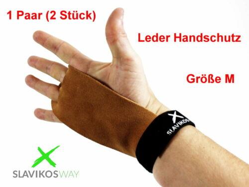 PREMIUM LEDER Slavikosway Handschutz Gr.M Handschoner Calisthenics Body Building