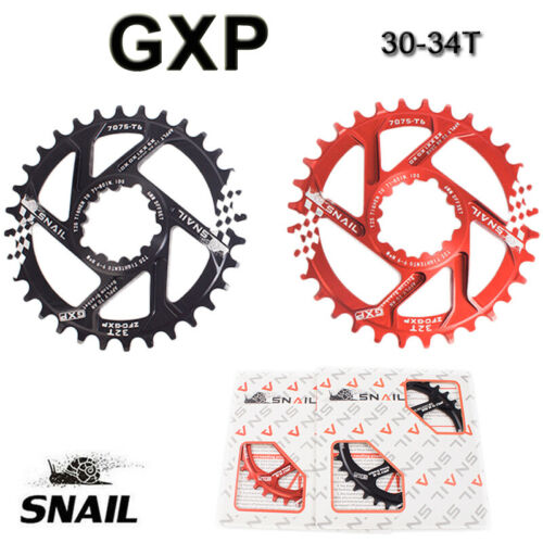 SNAIL GXP Offset 6mm MTB Bicycle 30T//32T//34T Chainring Narrow Wide Chainwheel AU