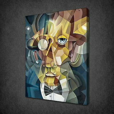 CUBISM MAN FACE MODERN DESIGN CANVAS PRINT PICTURE POSTER READY TO HANG