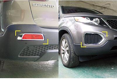 New Chrome Fog Lamp Cover Molding 4pcs K023 for Kia Sorento 2013-2014