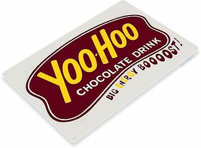 "TIN SIGN /""Yoo Hoo/"" SODA Chocolate Advertisement Wall Decor"