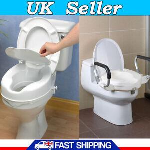 Drive Medical Raised 10cm Elevated Toilet Seat Lift Riser