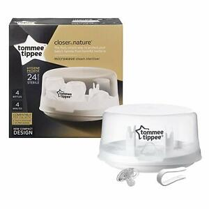Tommee-Tippee-Closer-To-Nature-Microwave-Steam-Steriliser-White-24-hours-Sterile