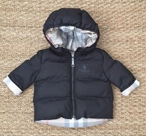 4fb6cc064 NEW Authentic BURBERRY BABY Black Infant Boy Winter Coat Jacket - 3 ...