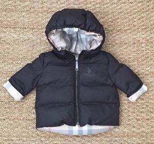 def0fc838 NEW Authentic BURBERRY BABY Black Infant Boy Winter Coat Jacket - 3 ...