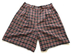 Uni Women's Vintage Tartan Vérifiez Ci-dessous Longueur Genou Short Taille 16-afficher Le Titre D'origine Bien Vendre Partout Dans Le Monde