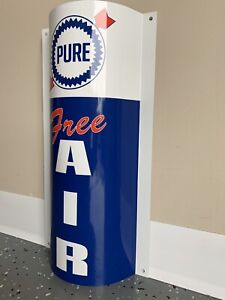 Gulf Free Air Metal  Gasoline Gas sign Pump Oil Gasoline Service Racing Lemans