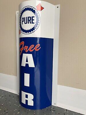 Mobiloil Mobilgas Mobil Free Air Curved Metal  Gasoline Gas sign Pump Oil WOW!!!