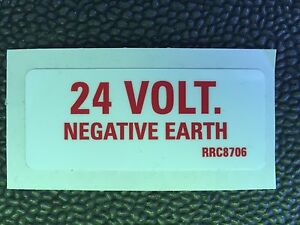 ARMY-LAND-ROVER-Wolf-24-VOLT-Negative-earth-STICKER-RRC8706-MILITARY-VEHICLES