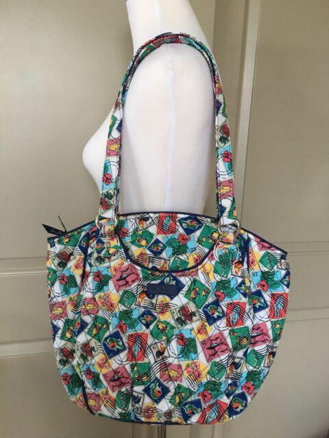 2c9757dd964 Vera Bradley Blueberry Blooms Glenna Tote Bag Shoulder Handbag for ...