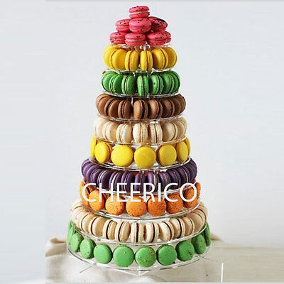 10 Tier Macaron Tower Macaron Stand for 230 Macarons by Cheerico Supplies.