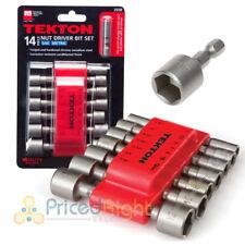 14 pc. SAE Metric Quick Change Power Nut Driver Bit Set w/ Detents Tekton 2938