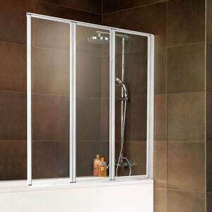 Badewannenfaltwand-Badewannenaufsatz-Duschabtrennung-Faltwand-Badewanne-Schulte