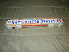 EeBoo Picture Map of the United States & The World New Laminated
