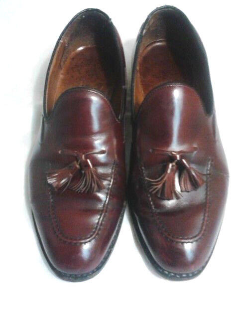 Bostonian Tassle Loafers Mens Size Design~Burgundy 10 Wide Stress Relief Design~Burgundy Size e76e44