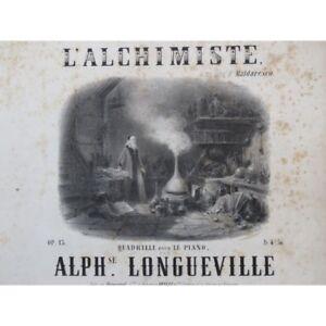 Longueville Alphonse Der Alchemist-quadrille Piano Ca1860 Partitur blatt Musikinstrumente