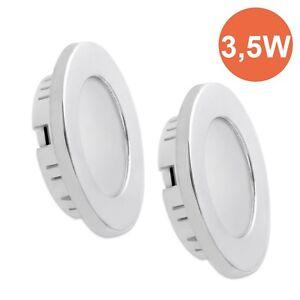 2X12V-3-5W-LED-Einbauleuchte-Deckenlampe-Innenleuchte-Wohnwagen-Wohnmobil-Reise