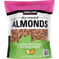 Kirkland Signature Dry Roasted Almonds, 40 Oz. -