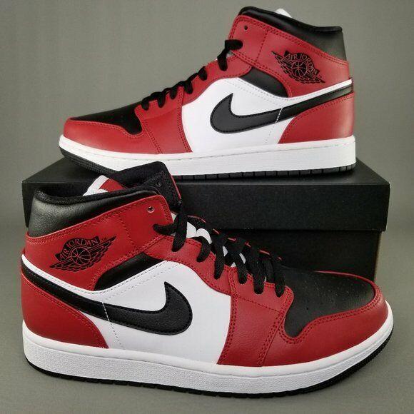 Size 7 - Jordan 1 Mid Chicago Black Toe 2020