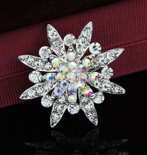 3pcs Set Diamante Brooch Pin Assorted Bling Rhinestones for DIY Dresses Blazer