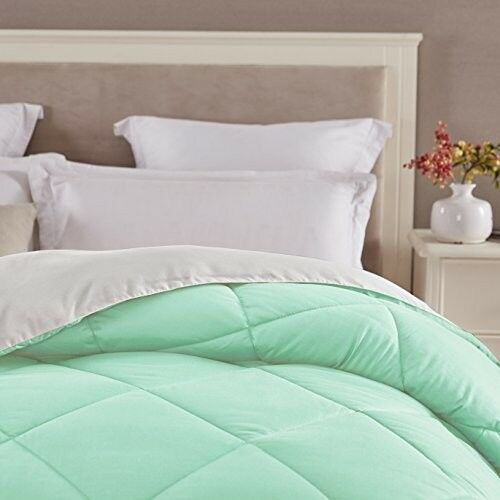 Girls Mint Comforter Twin XL Pastel Bedding Soft Reversible Microfiber Light