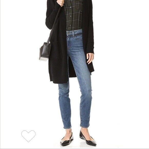 New Paige Hoxton Ankle Undone Skinny Denim Jeans Sz 27