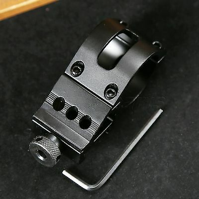 45° Offset Side 30mm Barrel Ring Picatinny Weaver 20mm Rail for Scope Flashlight