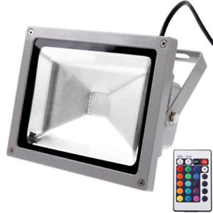 Faro-da-Esterno-IP-65-Grigio-a-LED-RGB-20W-1600-Lumen-AC-85-265V-Telecomando