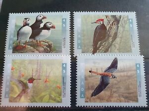 Canada-1996-Birds-1st-series-set-of-4-Hinged-mint