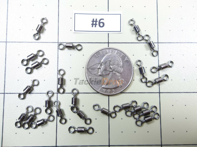 100x #2 Crane Barrel Swivel 100LB Strong Fishing Line Connector Solid Ring USA!