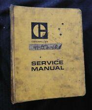 Caterpillar 920 930 Wheel Loader Tractor Service Manual 62k 71h 73u 75j 79j Up