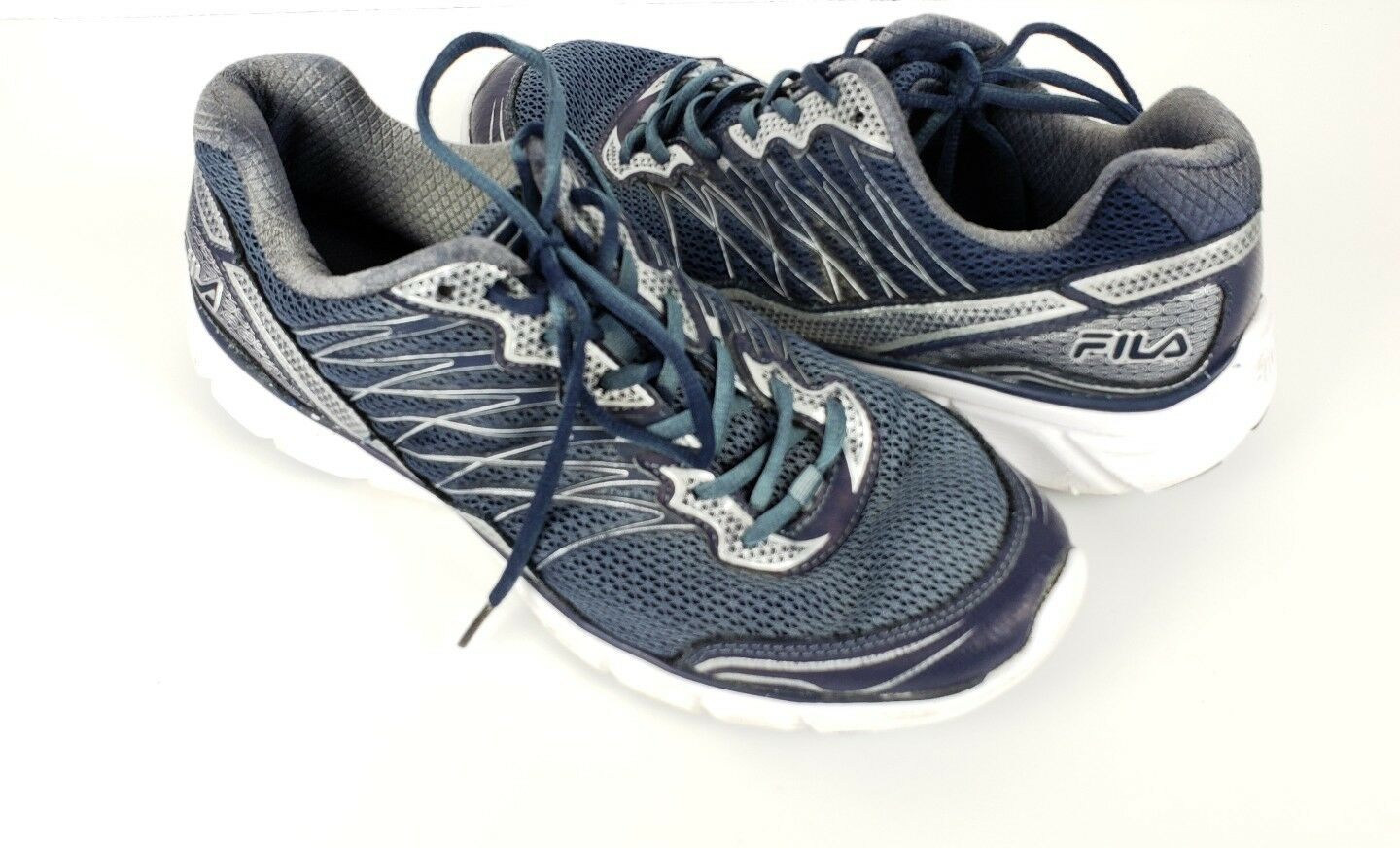 FILA  1SR20961-411 Men's Gray/Blue Running Walking Athletic Shoes size 10.5 The latest discount shoes for men and women