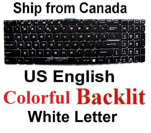 US Backlit Keyboard for MSI MS-1795 MS-1796 MS-1799 MS-1771 MS-1773 MS-179B