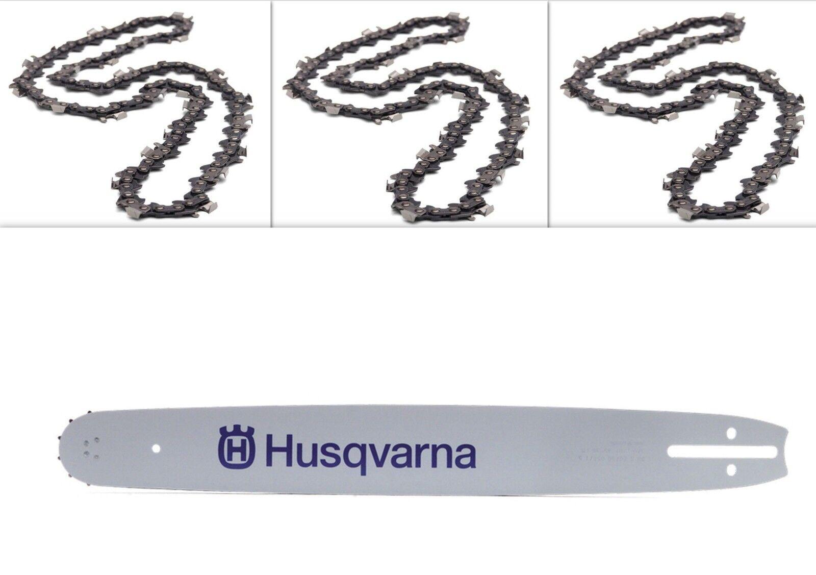 """38cm Schwert 3//8/"""" 2 Ketten 56TG 1,5mm für Husqvarna 55"""