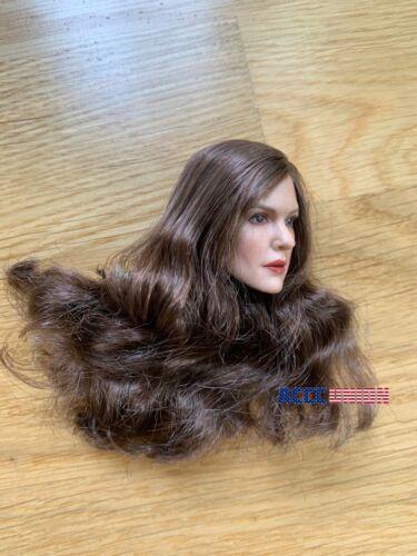 """1//6 European Female Head Sculpt GC027 B Pour 12/"""" PHICEN TC Hot Toys figure USA"""
