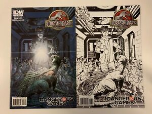 IDW JURASSIC PARK : DANGEROUS GAMES #3 : BOTH COVERS BUNDLE : REG + RI : NM