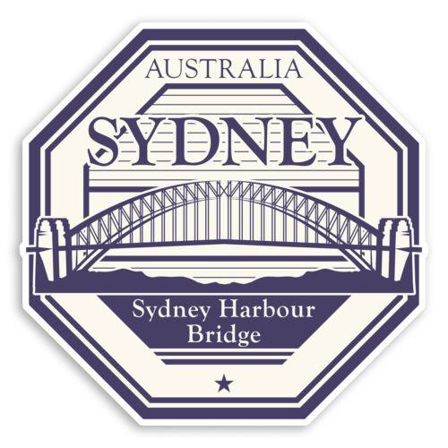 2 x 10cm Sydney Harbour Bridge Australia Vinyl Stickers Luggage Sticker #30942