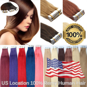 USStock-Hair-Extensions-Seamless-Tape-in-Skin-Weft-Brazilian-Remy-Human-Hair-20-034