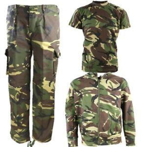 WORLD BOOK DAY BOYS ARMY SOLDIER COSTUME KIDS TROUSERS T-SHIRT HOODIE DPM CAMO