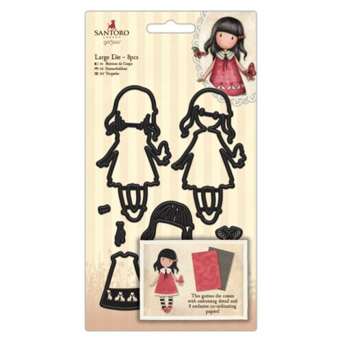 Docrafts Gorjuss LARGE Die sets Rosie Time to Fly /& Pom Pom Birds of a Feather