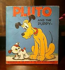 Walt Disney, Pluto and the Puppy, Rare 1st Edition Book (1937)