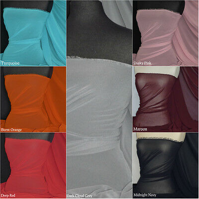 Chiffon Soft Touch Sheer Fabric Material Q795