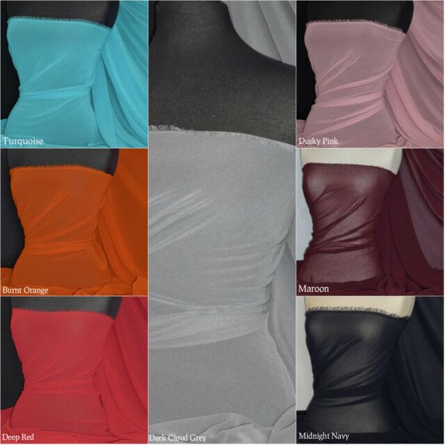 Chiffon Soft Touch Sheer Fabric Material Q795